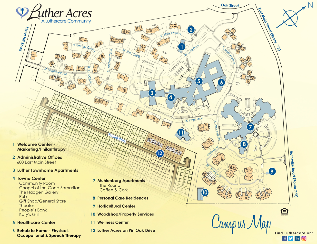 luther acres campus map