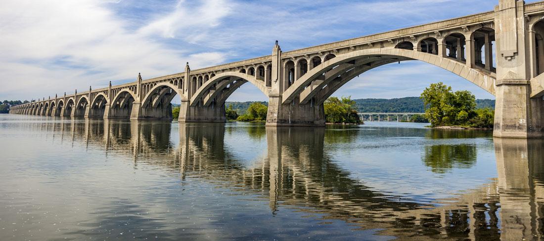 wrightsville bridge on a sunny day