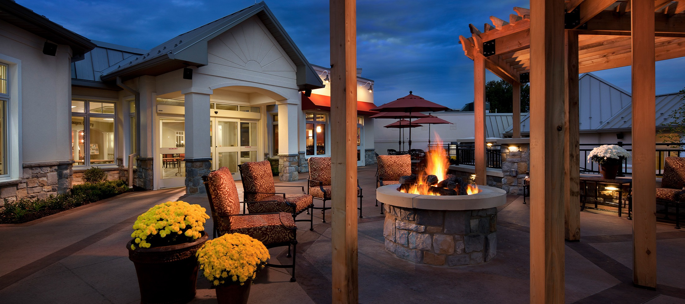 fire pit patio at luther acres